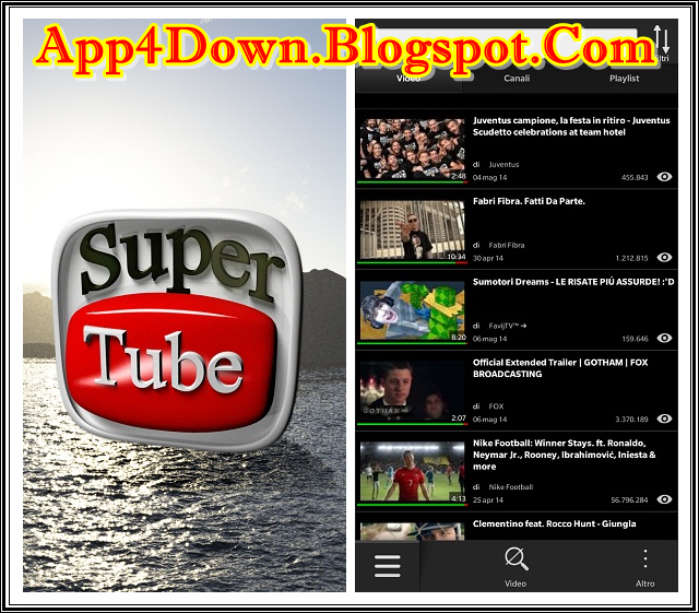 Download SuperTube 2.5.0.2 For Blackberry Latest Free Version (Update)