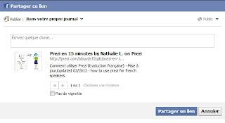 partager votre prezi sur fcebook