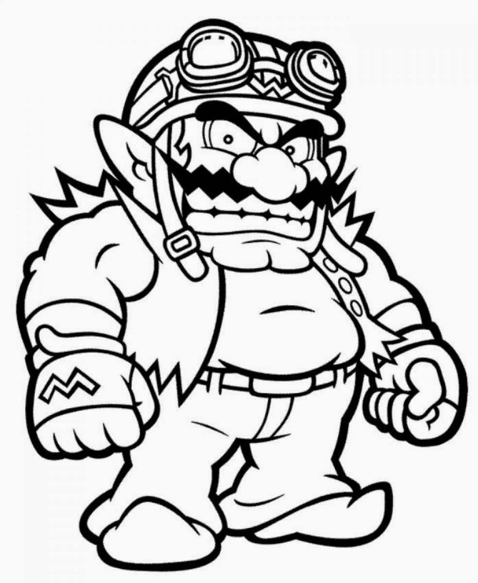 mario color page coloring pages mario coloring pages free and printable