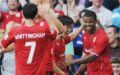 Cardiff City Kalahkan Manchester City 3-2