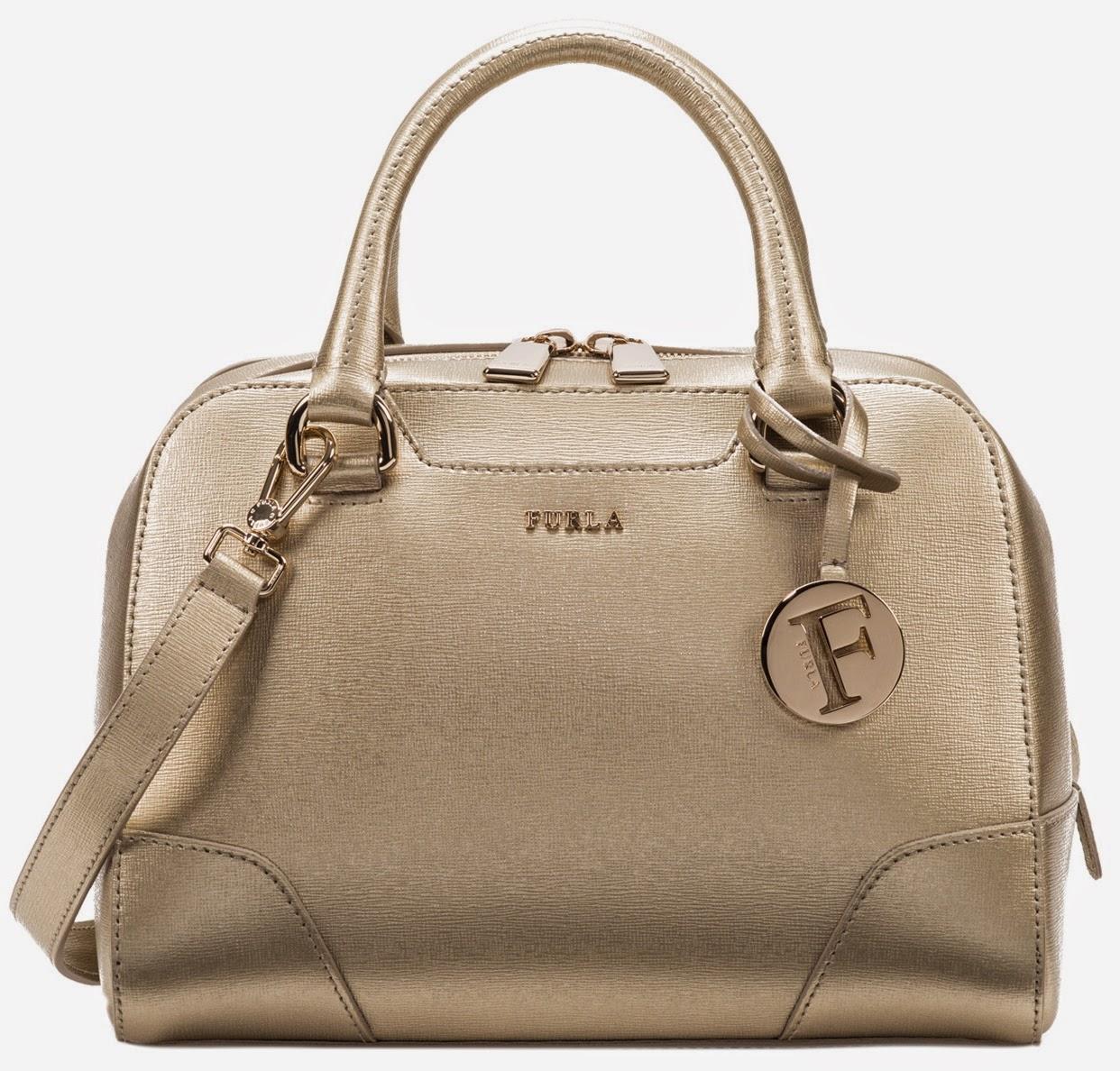 furla golden dolly satchel bag