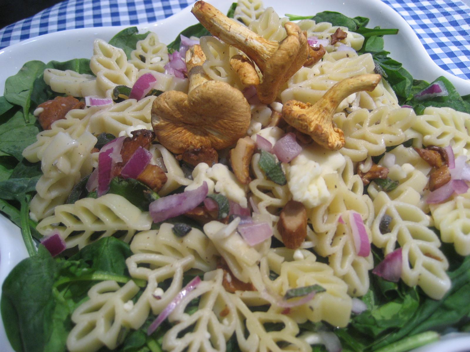 Marie est dans son assiette salade de p tes aux for Salade pour accompagner poisson