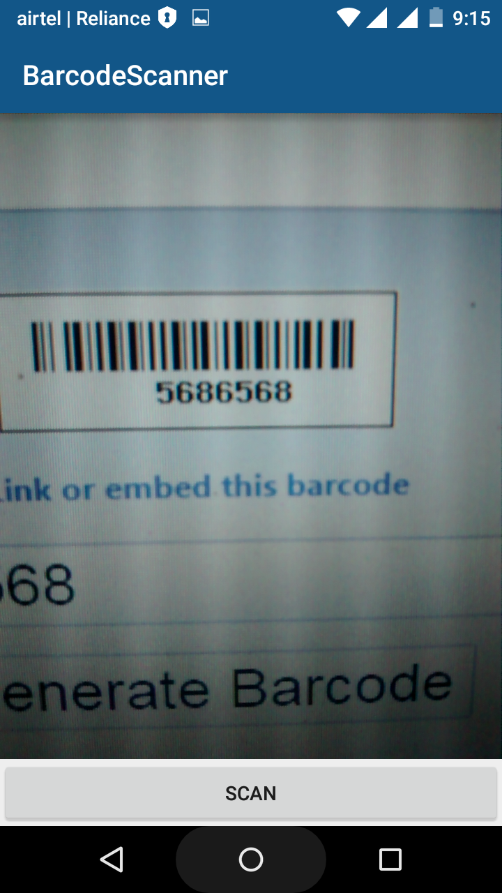 Android Development Tutorials: Barcode and QR code scanner example