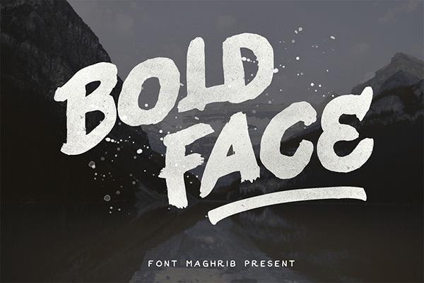 Download Gratis Font Terbaru September 2015 - Bold Face Typeface