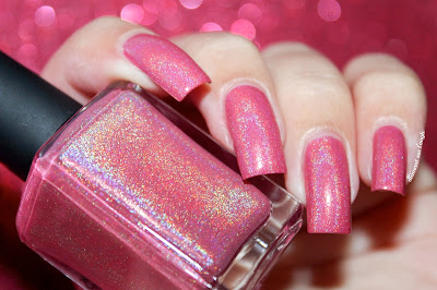 "Swatch of the nail polish ""Tropical Candy Flowers"" from Chaos & Crocodiles"
