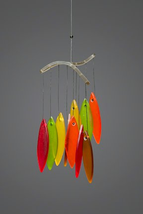 glass wind chimes. The glass wind chime is a