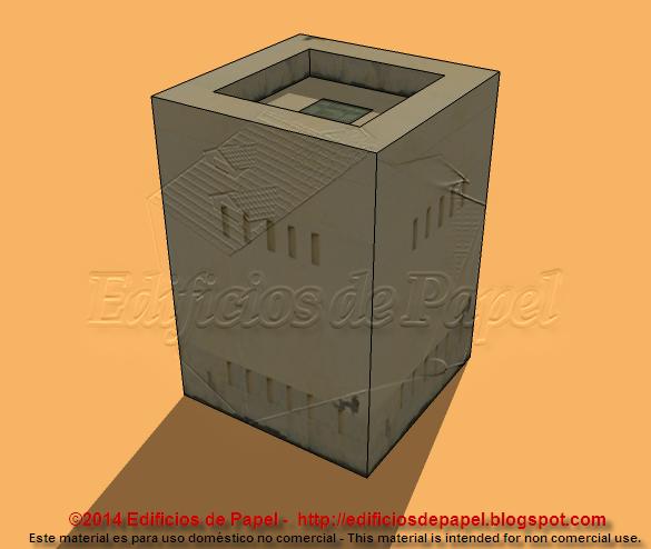 Maqueta de papel modelo 1525