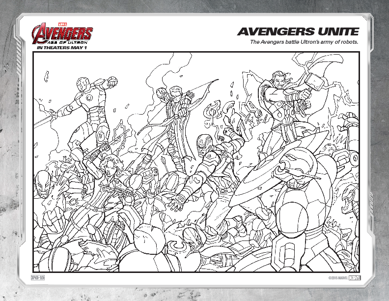 Childrens Colouring Pages Avengers The Art Of Random Willy Nillyness Marvel Age