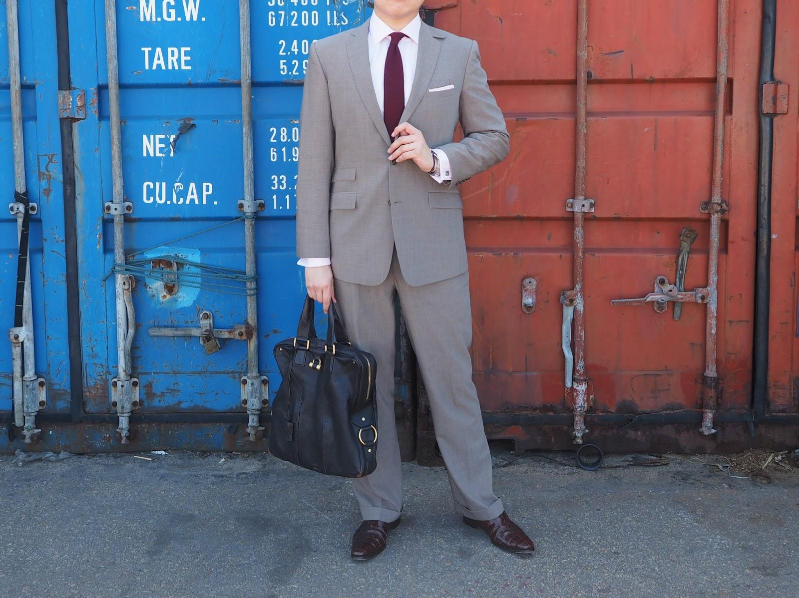 Watsons Winter Wednesday Brown Suit tie shirt professional work clothes men gentlemen bag suitcase shoes
