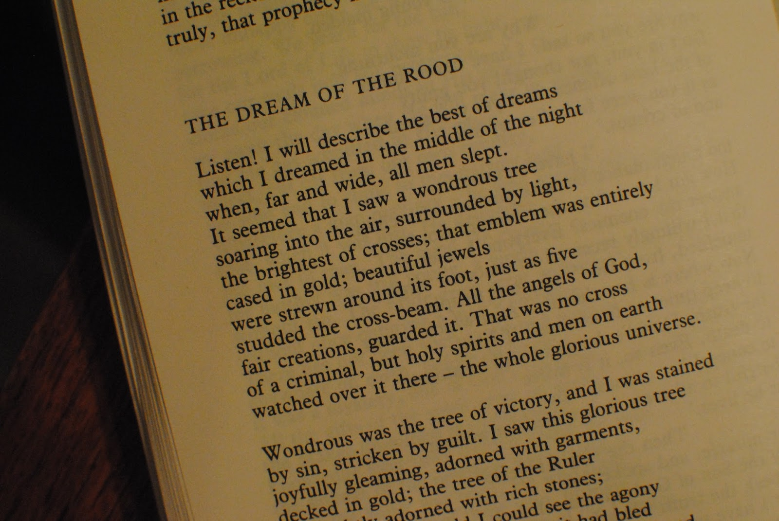 dream of the rood essay 146a 29 august 2012 response to the dream of the rood in the poem the dream of the rood, many parallels between a seemingly inanimate object directly correlates with the crucifixion and resurrection of christ.