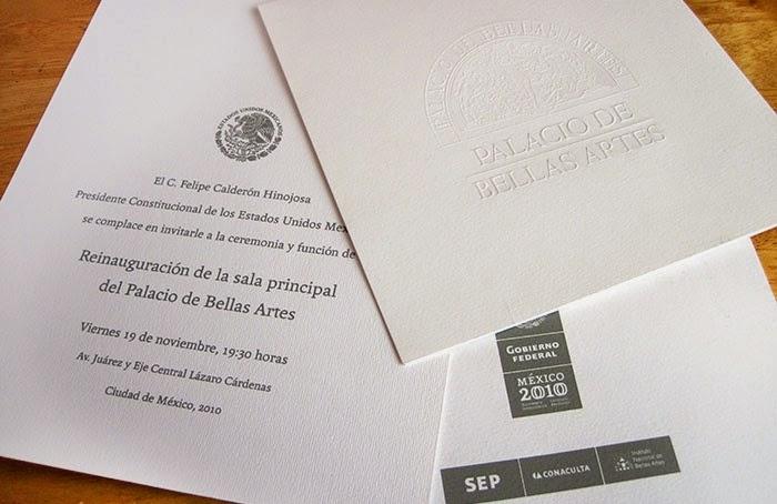 Invitación oficial en papel