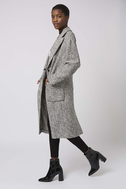 topshop grey coat, grey slouchy coat,