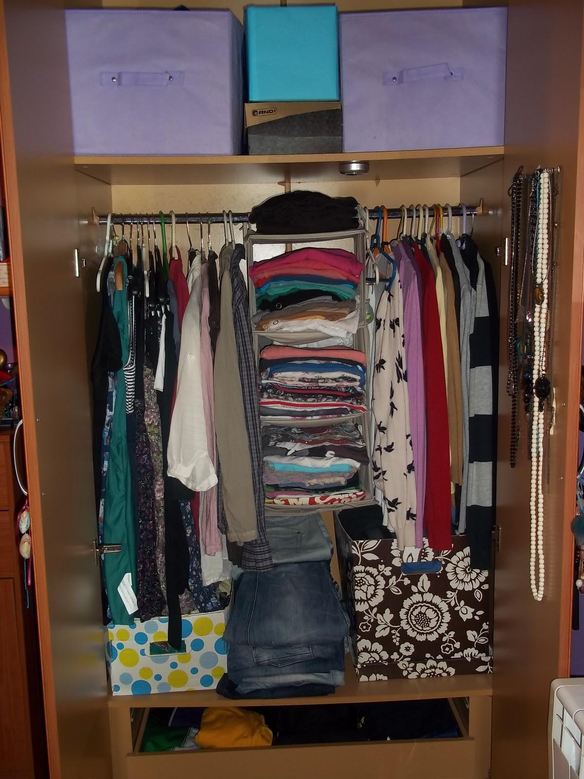 Everyday fashion beauty closet organization - Como organizar armarios ...