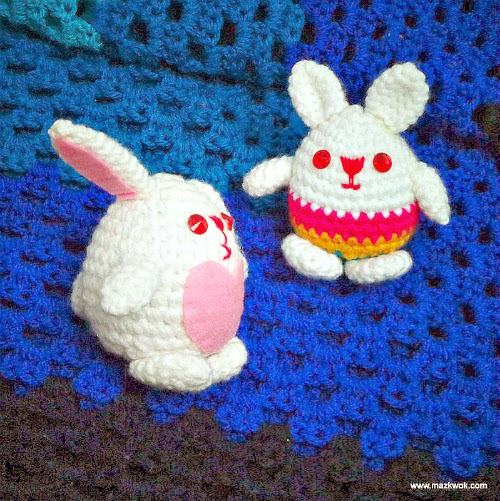 crochet Easter bunny, crochet Easter egg