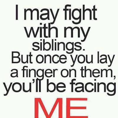Funny Quotes On Love Fights : Quotes and Sayings: I may fight with my siblings