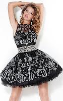 Кукленска рокля в черно и сребърно, дизайнер Jovani