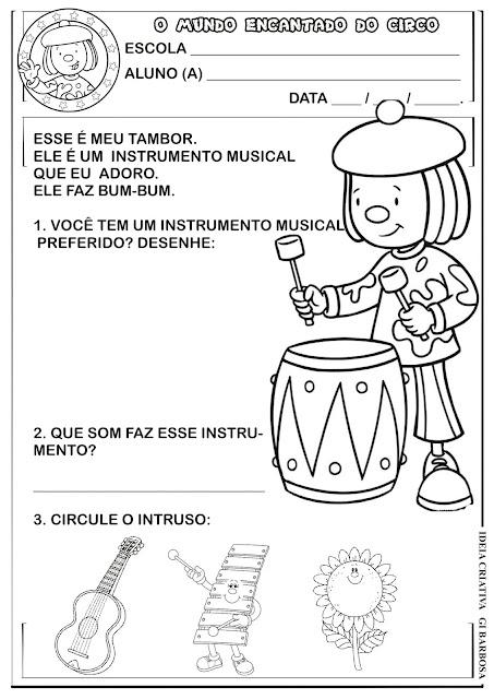 Atividade Identidade Projeto Circo e Música