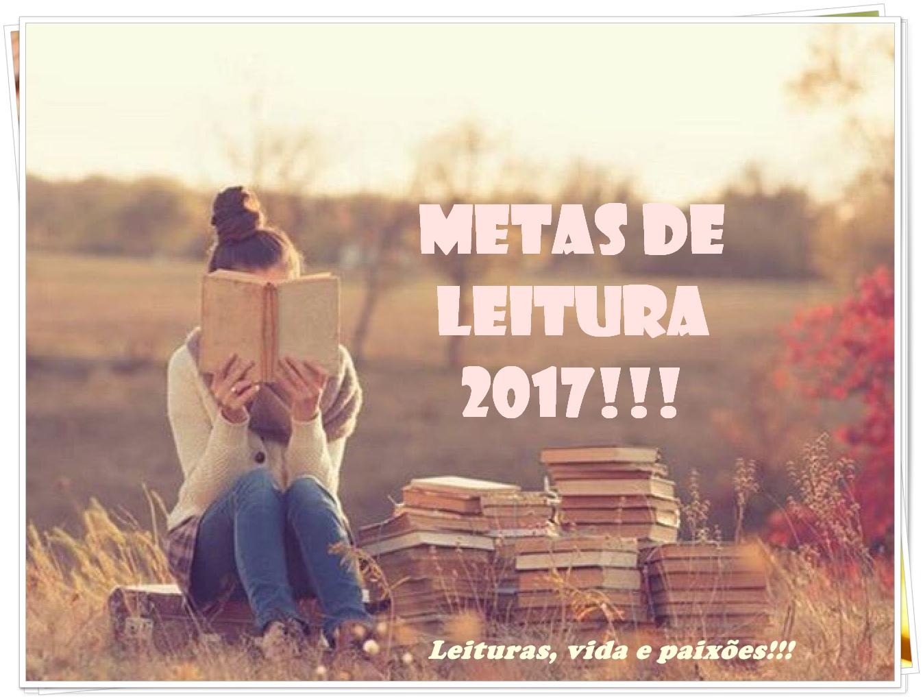 Metas de leitura 2017!!!