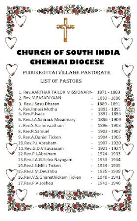 Pastors of Madras Diocese