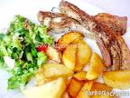 Costita de porc marinata la cuptor cu cartofi copti