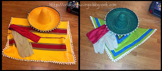 Guacamelee costumes, including sombrero, poncho, tattered pants, and red sash