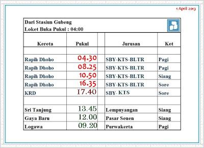 jadwal kereta api rapih dhoho dari stasiun gubeng jadwal kereta