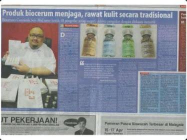 Keratan Akhbar Berita Harian 16 April 2011