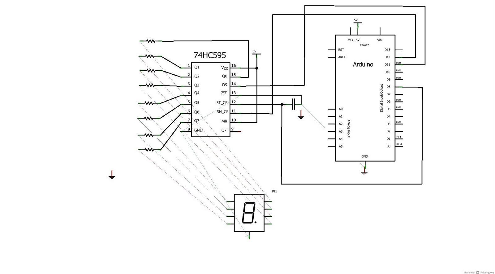 so 1 malaysia  arduino 7 segment led count