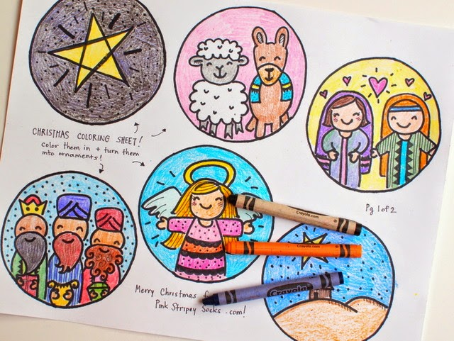 free Christmas Coloring Sheets for kids (Advent and Nativity)
