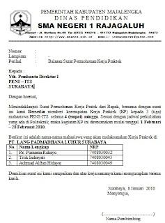 Contoh Surat Balasan Permohonan Kerja Praktekdocx Size 13