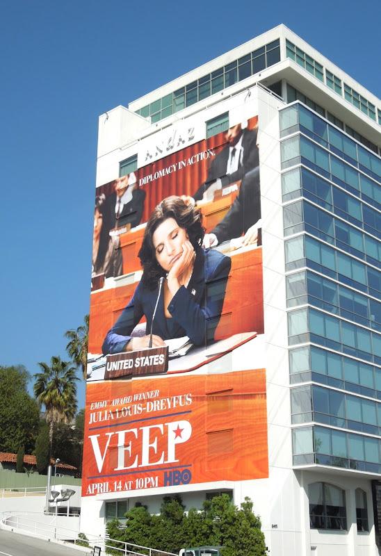 Giant Veep season 2 HBO billboard