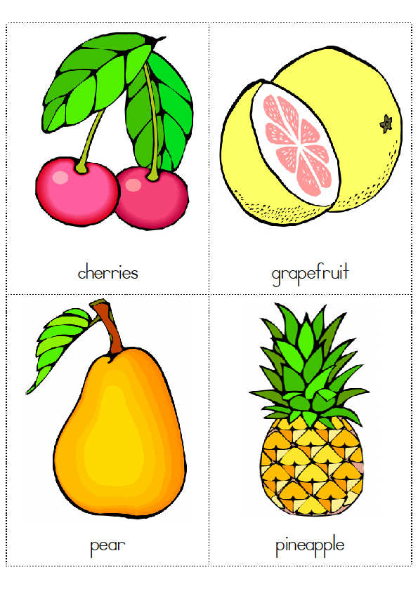 Kids English : Flashcards - Fruits