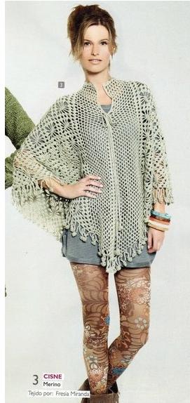 Patrones De Ponchos a Crochet