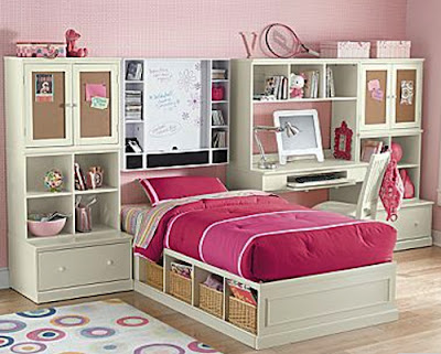 bedroom pink girly style