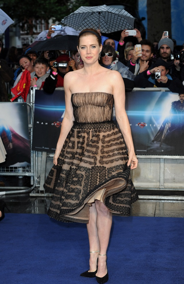 Amy Adams In Valentino Couture At The Man Of Steel