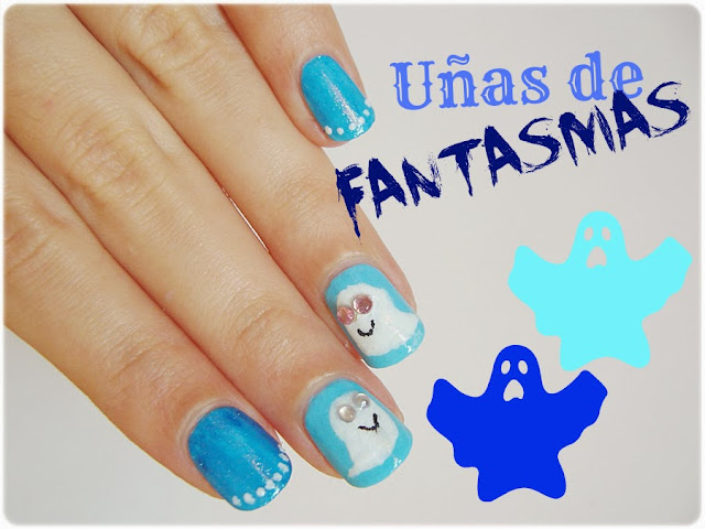 manicura manis de halloween uñas fantasmas infantil nail art nails ghosts