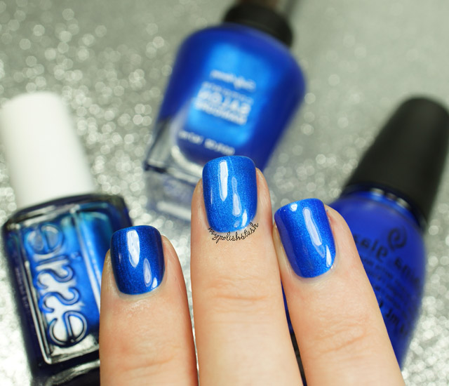 Swatches Cobalt Blue Nailpolish