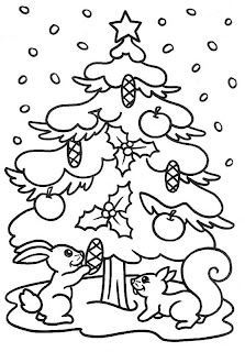 Dibujo de árbol navideño para colorear