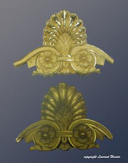 Palmette en bronze doré