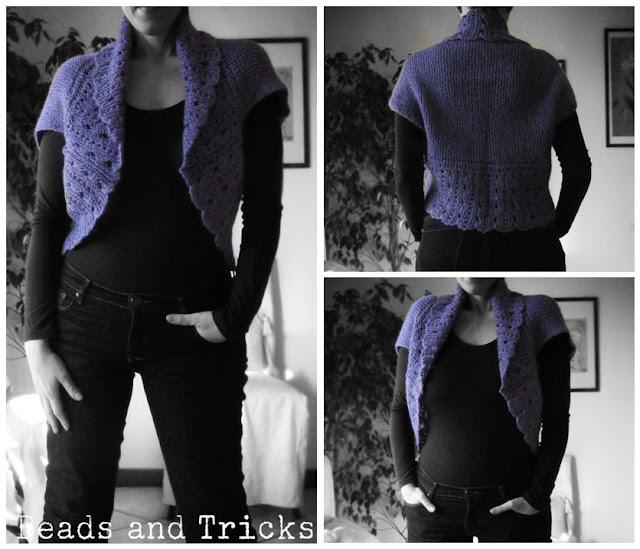 Coprispalle viola maglia