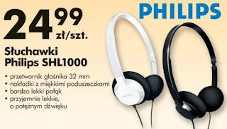 Słuchawki Philips SHL1000 Biedronka ulotka