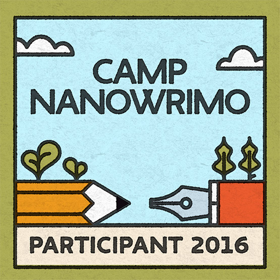 I'm participating in Camp NaNoWriMo 2016!