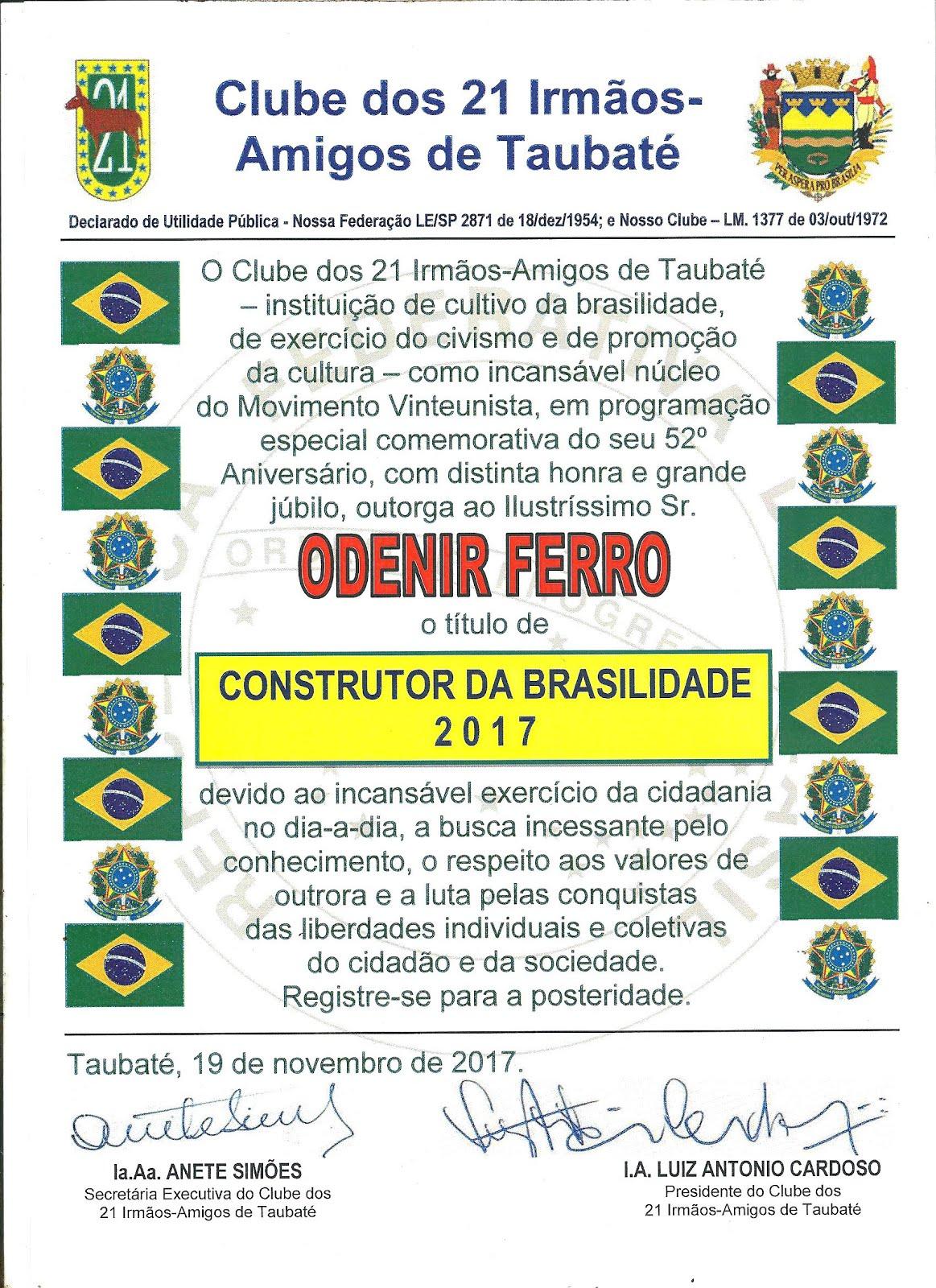 CLUBE DOS 21 IRMÃOS - AMIGOS DE TAUBATÉ