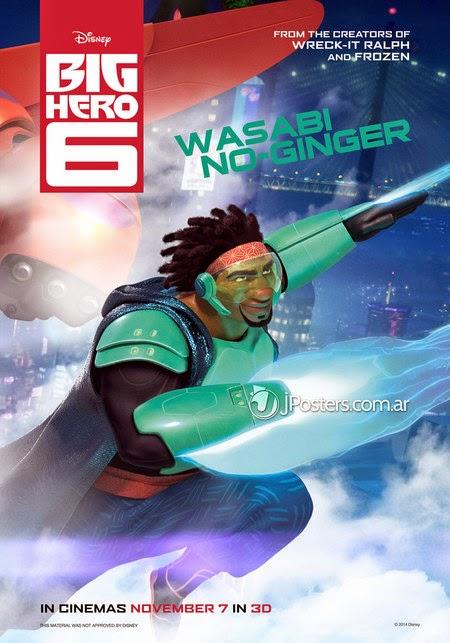 Gambar Big Hero 6 Wasabi No Ginger Marvel Walt Disney Animasi Lucu Keren