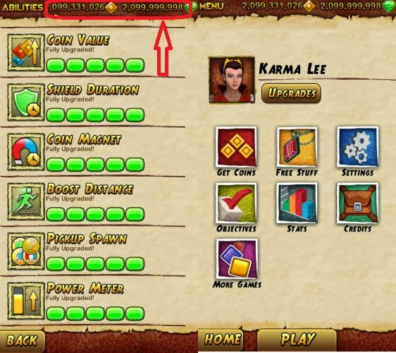 temple run 2 unlimited coins and gems