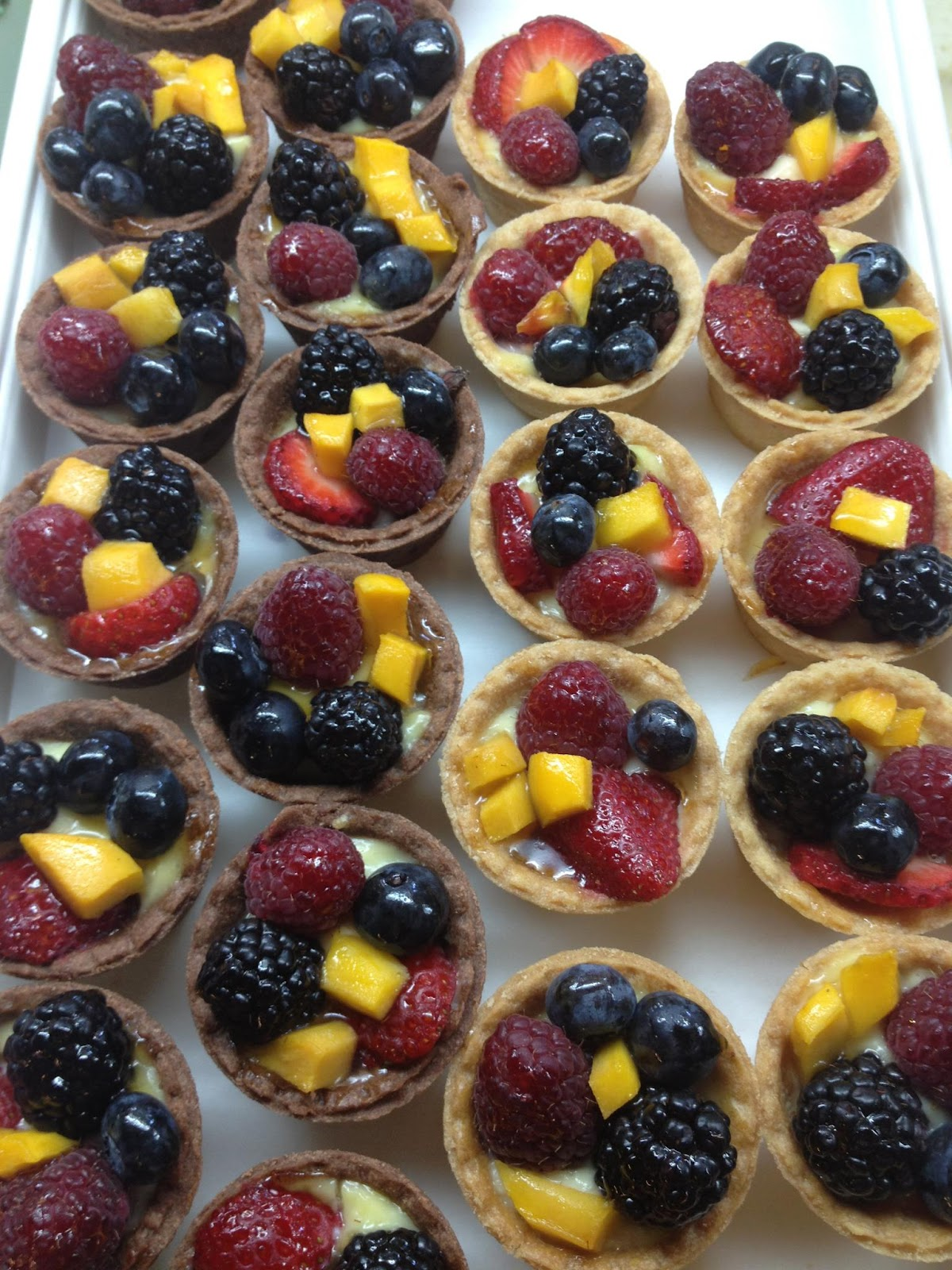 Each fruit tart is made with a flaky butter crust, filled with vanilla ...