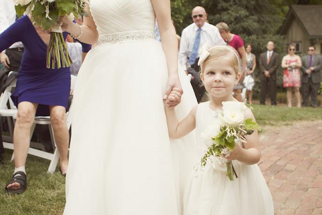 summer wedding with seersucker and peonies   photos by amanda perry