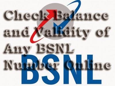 How to check balance and validity of any BSNL mobile number online