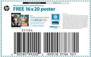 Free 16 x 20″ Poster at Walmart