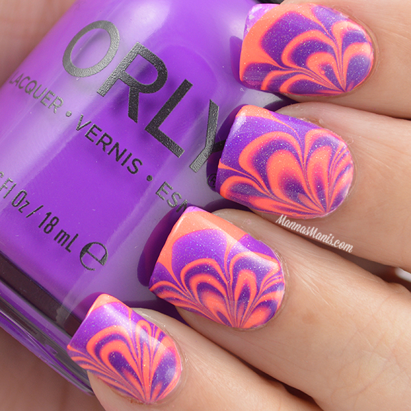 My First Successful Watermarble Using Orly I Used Push The Limit And Be Daring To Achieve This Look Also Can Never Leave Well Enough Alone